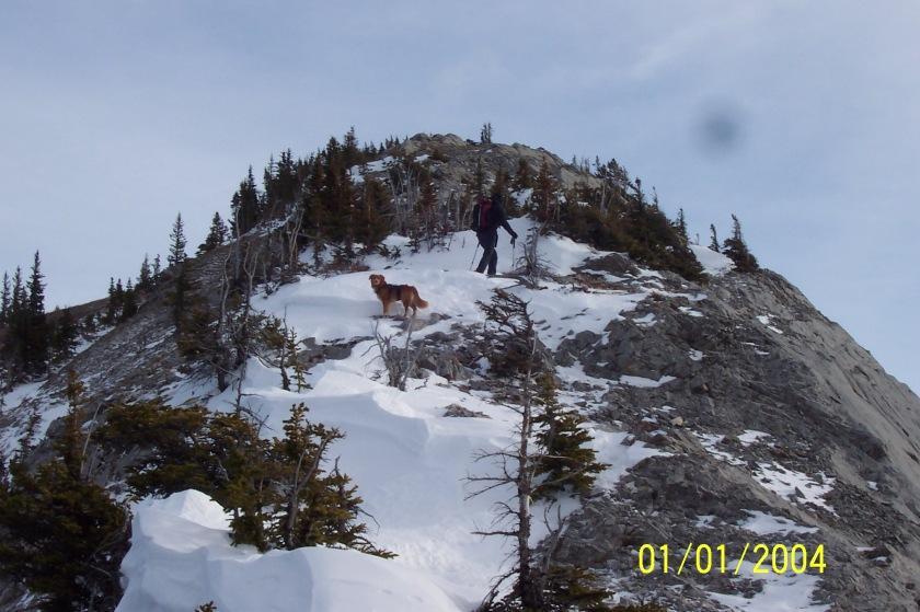 Riley on Grant MacEwan Peak Heart Mountain