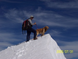 Kris & Buddy on Mt Daly 2