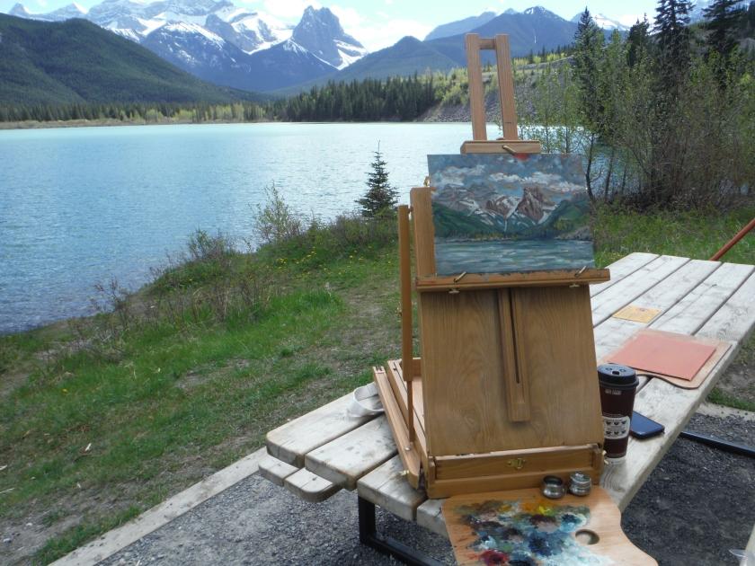 plein air painting gap lake