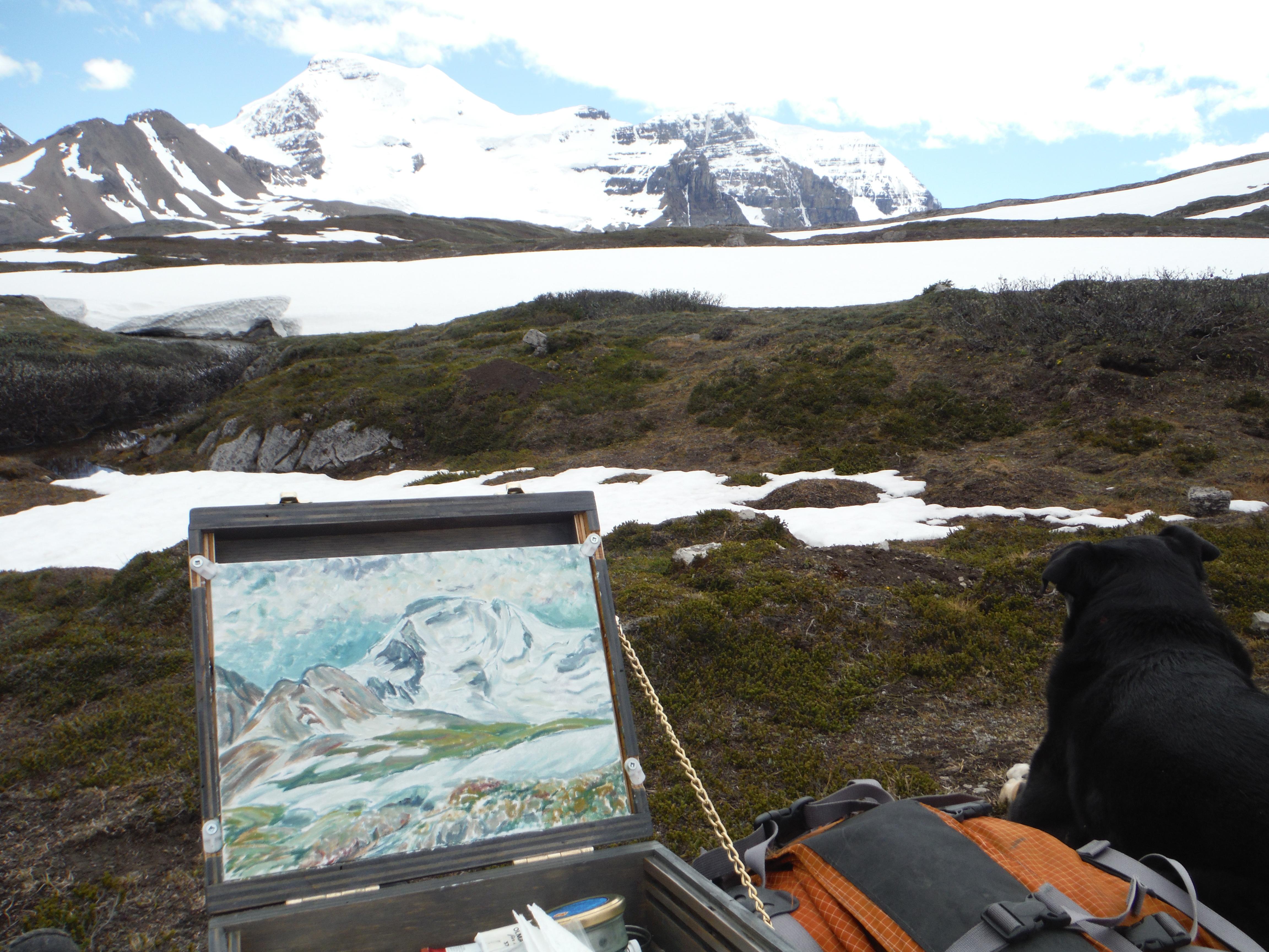 plein air painting Wilcox Ridge