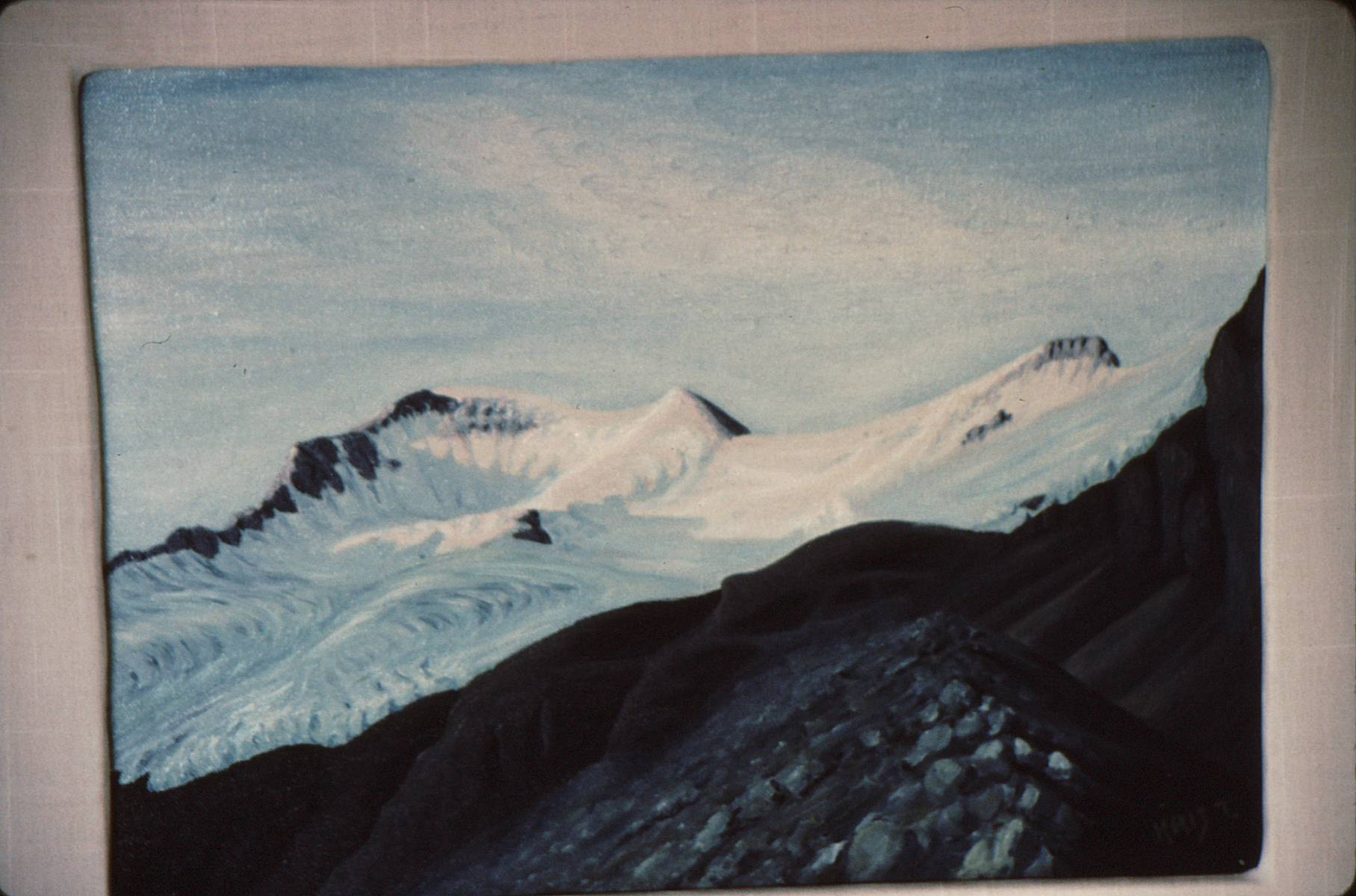 KJT Paintings Summer 93-34 Athabasca Alpenglow