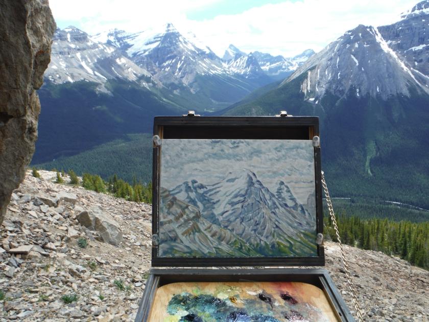 plein air painting Paget Peak Mt. Victoria