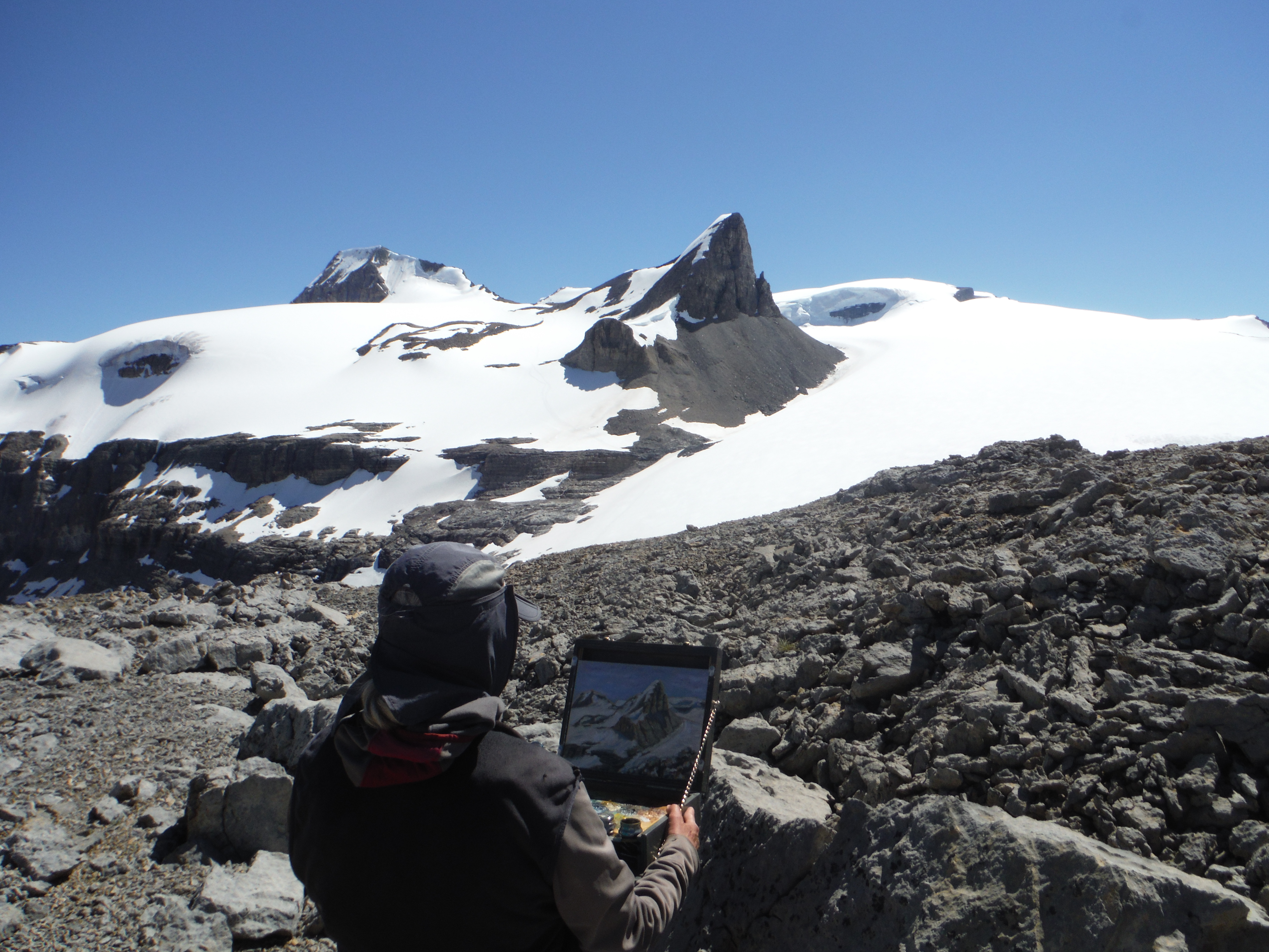 Plein Air Painting St. Nicholas Peak Mt. Olive Wapta Icefield The Onion