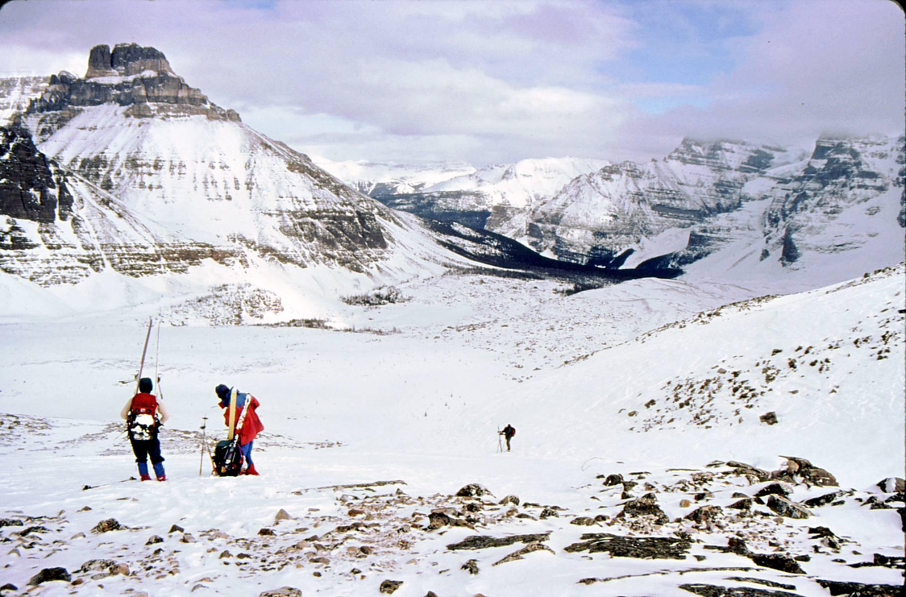 Wenkchemna Pass Moraine Lake Ski Trip