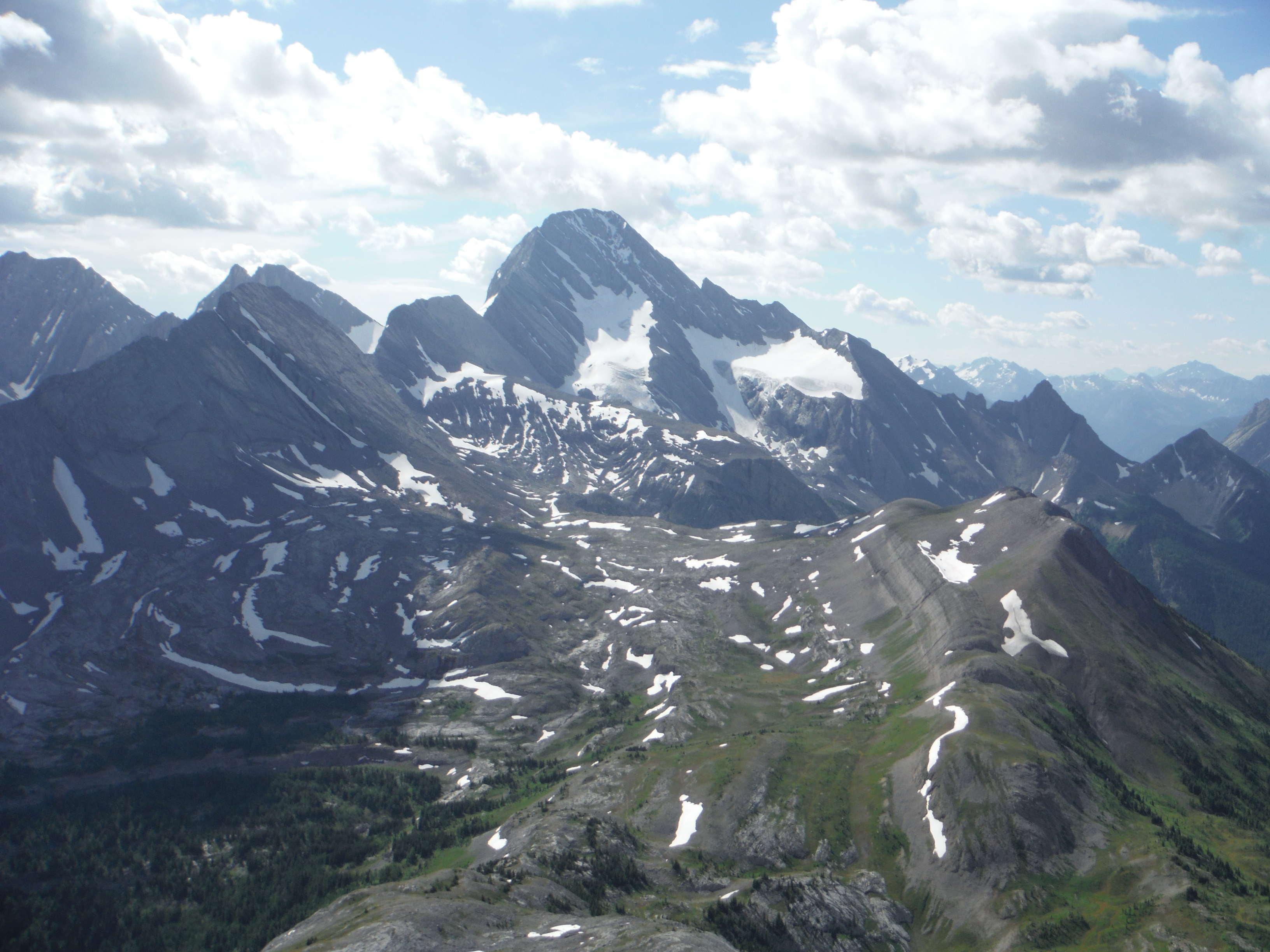 Mt. Sir Douglas Snow Peak Whistling Rock Ridge Burstall Pass Peak Kananaskis Mt. Robertson