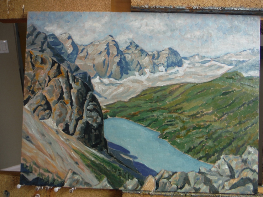 Moraine Lake from Tower of Babel oil painting